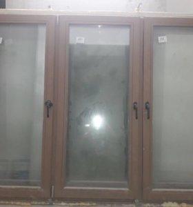 Новые деревянные евро окна и балконные блоки