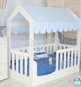Детская домик-кроватка