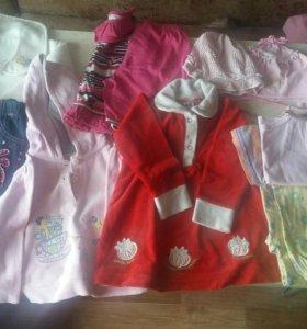 Пакет вещей для девочки + обувь бесплатно