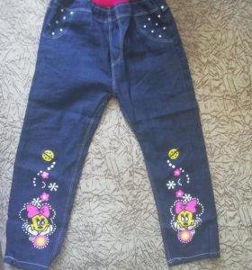 Новые тонкие джинсы