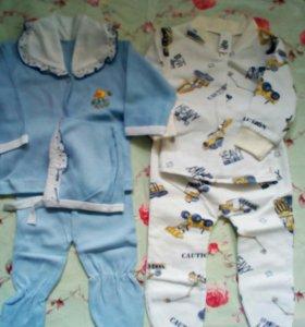 Комбинезоны и костюмы 0-3 месяца