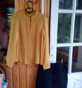 Комплект желтая блуза и юбка