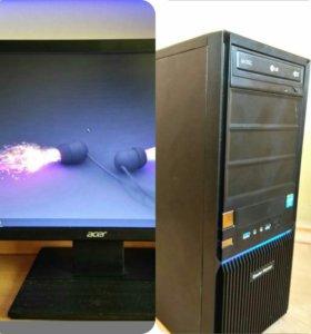 компьютер и монитор(ACER v196HQL)