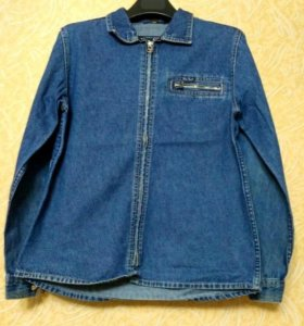 Рубашка на молнии (джинса)