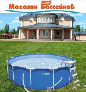 Каркасный бассейн 366*133 см.Доставка+🎁