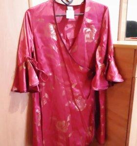 Новый халат с запахом