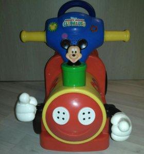 Машинка - каталка пушкар Дисней Микки