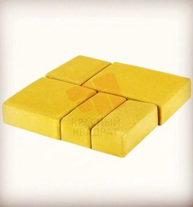 Тротуарная плитка «Старый город» желтая