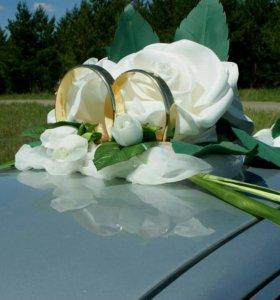 Украшения на свадебную машину