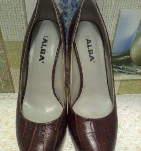 Туфли новые кожа бренд alba