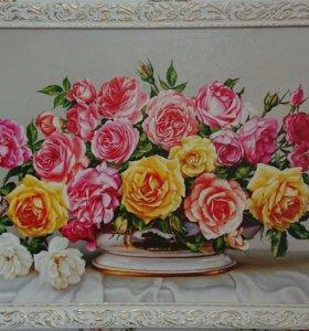 """Картина репродукция """"Королевский букет"""""""
