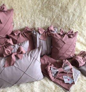 Бортики-подушки(комплект в кроватку)