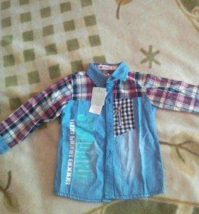 Рубашка для мальчика 3-4 года