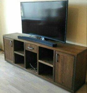 Тумба под ТВ, деревянная мебель, (деревянный стол)