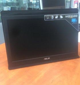 ASUS MB168B, портативный монитор с интерфейсом USB