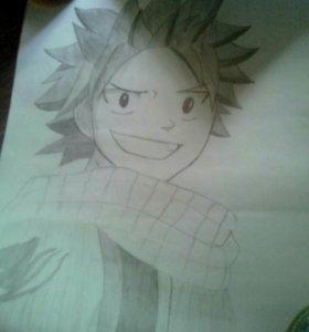 Портрет аниме рисунок