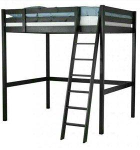 Черная Кровать - чердак. Ikea