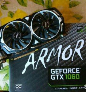Видеокарта GEFORCE GTX1060 ARMOR MSI 3GB
