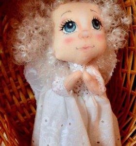 Текстильная кукла-подвеска ангел