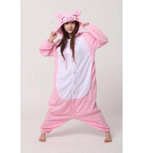 Кигуруми Розовая Свинка! Доставка бесплатно