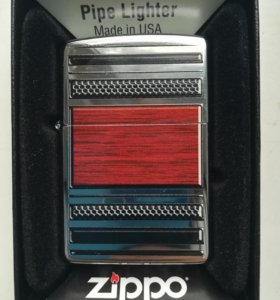 Зажигалка zippo 28676 steel and wood (для трубок)