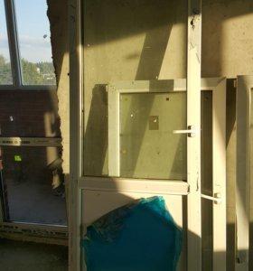 Балконная дверь б/у