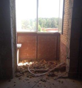 Окно алюминиевое для балкона