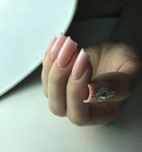 Маникюр, шеллак, наращивание ногтей