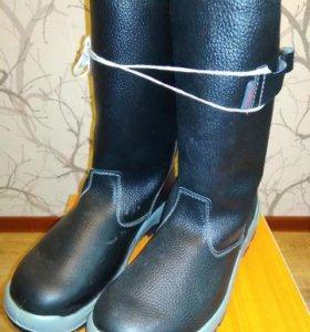 Сапоги кожаные зимние с мех-шерсть размер 44