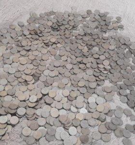 Куча монет 1 копейка