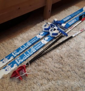 Лыжи детские (размер 30-35)