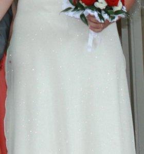 Свадебное/выпускное платье цвета шампанского
