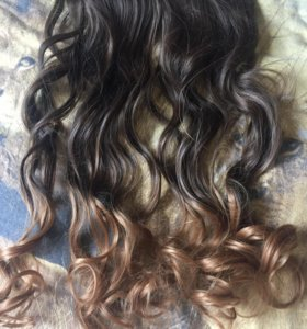 Волос на заколках новый