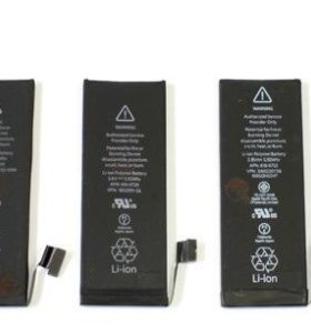 Аккумуляторы для iPhone 4/4s/5/5C/5S/6/6s/7 и др.