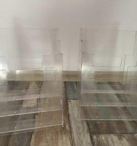 Прозрачные стенды настольные из оргстекла ценаза2