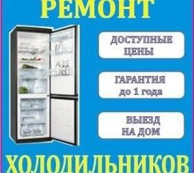 Профессиональный ремонт холодильников на дому