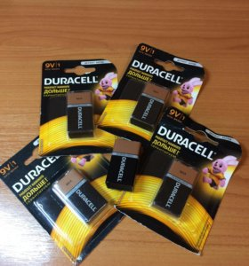 Батарейки Duracell (кроны)