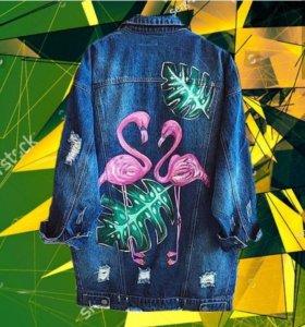 роспись одежды: блузки, юбки, джинсы,шорты сумки