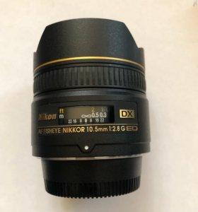 Nikon 10.5mm f/2.8 G ED DX Fisheye-Nikkor