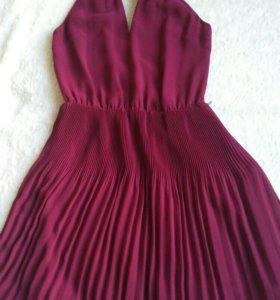 Коктейльное платье Oasis цвета марсала