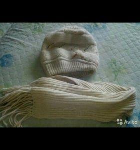 Комплект зимний шапка+шарф