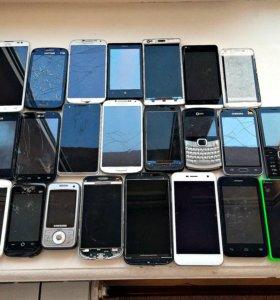 Пакет телефонов и аккумуляторов