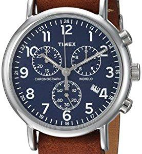 Новые часы Timex Weekender с кожаным ремешком