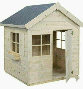 Детские деревянные домики и песочницы