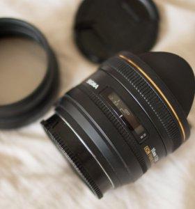 объектив sigma 10mm,2.8DC fisheye HSM.байонет sony