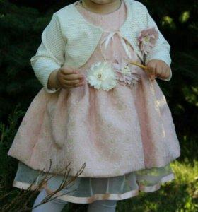 Шикарное платье на девочку 1-2 года