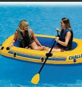 Лодка надувная Интекс Челенджер 2 местная и насос