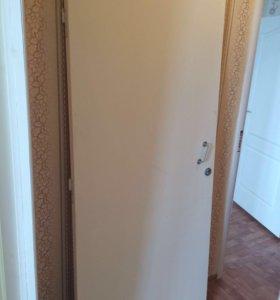 Дверь входная, новая, от застройщика