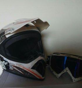 Мото шлем (мотокросс, эндуро)