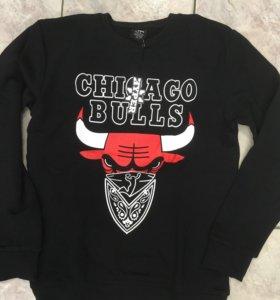 Свитшот Толстовка NBA Chicago Bulls новая.Хлопок